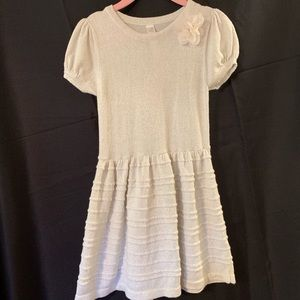 Cream Knit Girls Dress